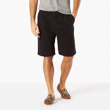The Perfect Pleated Short, Classic Fit   Black   Dockers® United ...