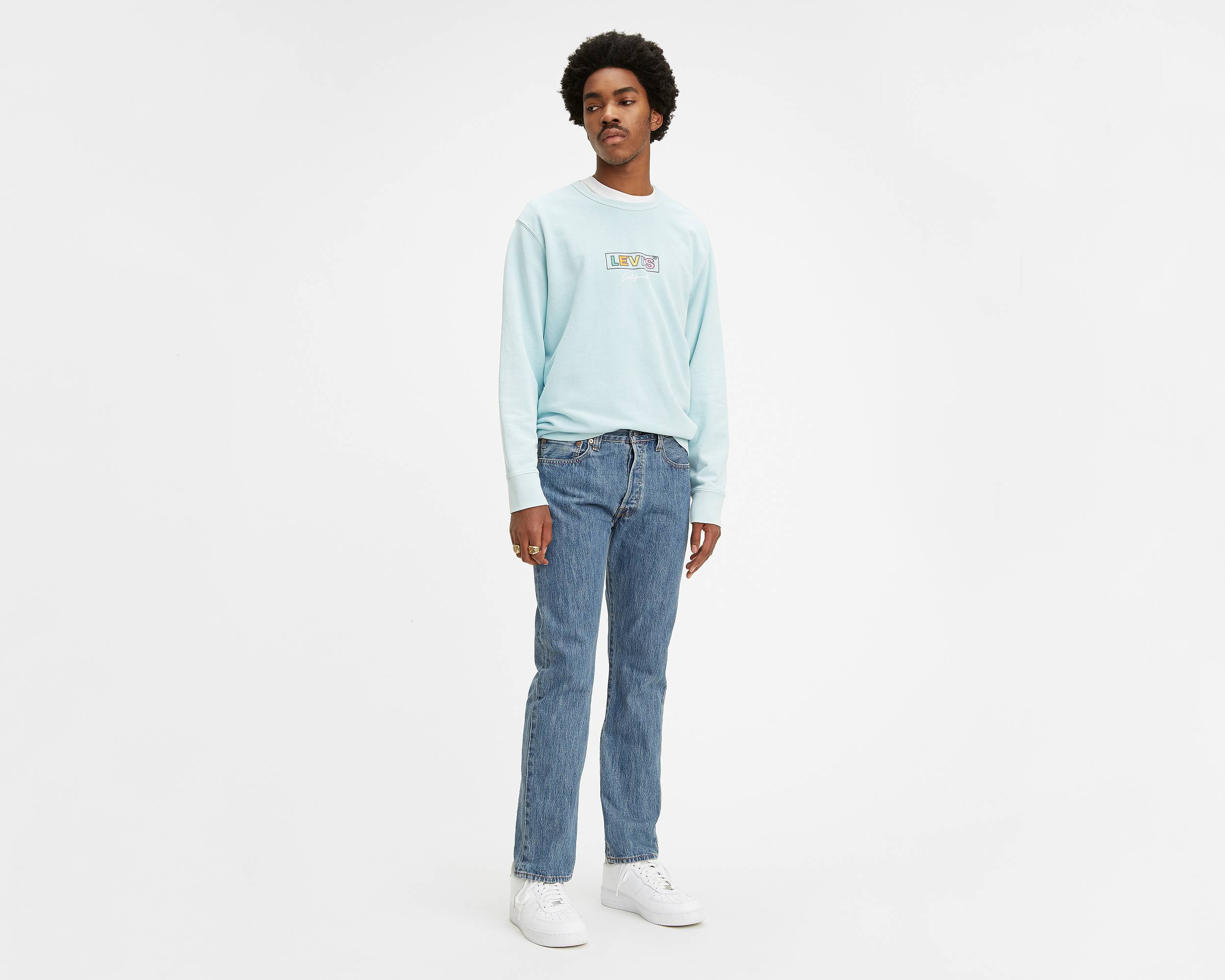 Levi Light Blue Jeans Mens Fashion