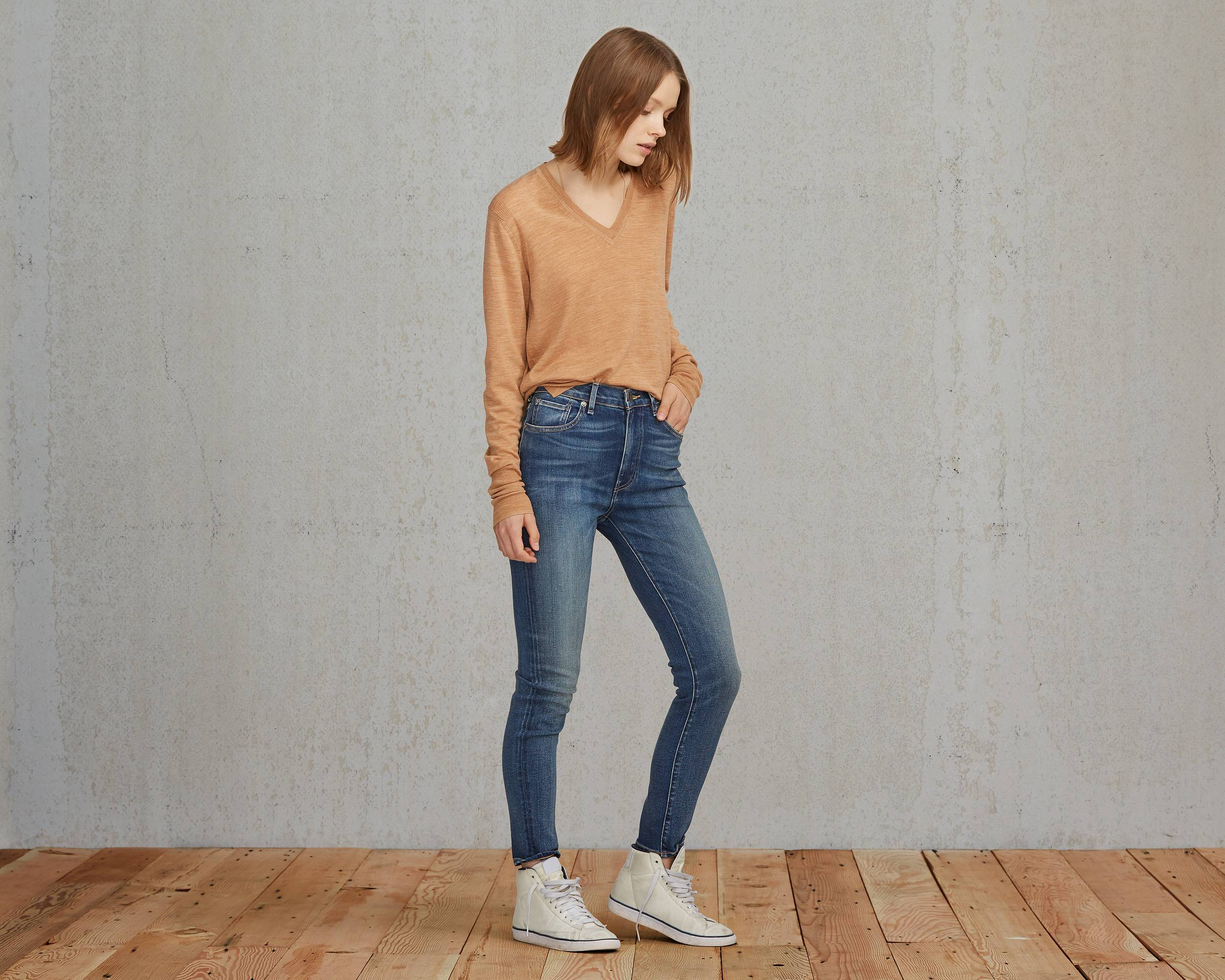 Sliver High Rise Skinny Jeans | Medium Worn |Levi's® United States ...