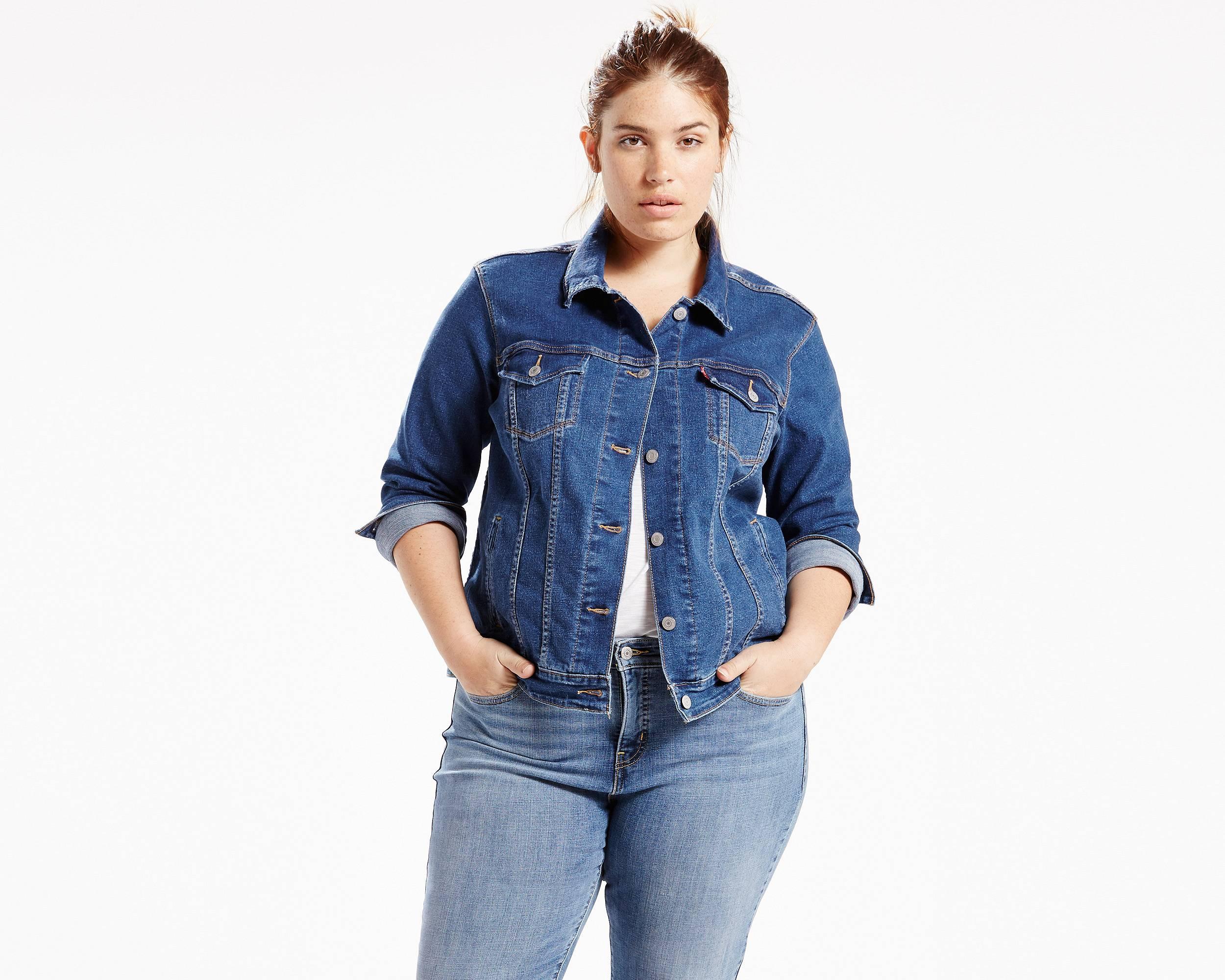 Original trucker jacket plus blue flight levi 39 s for Jeans and shirt women
